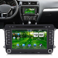 "7"" 2 DIN DVD MP5 Player LCD Radio GPS Lecteur Pour Skoda Seat VW Golf Volkswage"