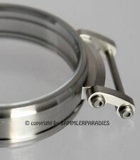 47mm EDELSTAHL MATTE CASE f. Einbau Uhrwerke MOSER NARDIN OMEGA & KRONE DRÜCKER