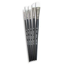 ANGELUS Art Pittura Pennelli Set di 5 fibra sintetica Acquerello Acrilico Olio