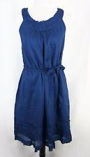 Talbots Dress Tunic size 8 Royal Blue Shift Ruffle No Slit