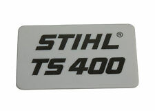 STIHL Name Badge Label Fits TS400 Top Shroud