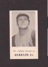 1969 Oakland A's Jack in the Box #27 JIM CATFISH HUNTER Andersen RARE