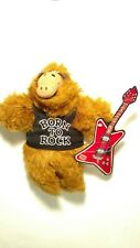 Vtg 80s The Many Faces Of Alf Born To Rock Hand Puppet Plush Stuffed Alien. New