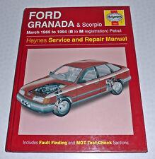 Ford Granada + Scorpio 1985 to 1994 B to M reg Petrol Car Haynes Repair Manual