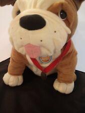 Dave & Busters Brown and White Bulldog Plush Dog Stuffed Animal Large Jumbo 18�