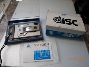 Vintage Minolta Disc Camera Disc-7 with Owner's Manual & Original Box, untested