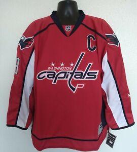 Reebok Center Ice Men's XL NHL Hockey Jersey Alex Ovechkin Washington Capitals