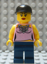 LEGO Contempory Girl Female Woman Dark Blue Legs Red Lipstick Head Black Hat