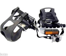 Bike Cycling Alloy Bicycle Pedal With Toe Clips And Straps Lightweight  MTB road