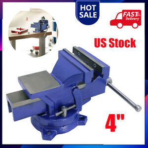 """4"""" Bench Vise with Anvil Swivel Locking Base Table top Clamp Heavy Duty Vice"""