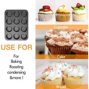 2 Pack Non-Stick Carbon Steel 12-Cavity Mini Donut Pan Baking Mold Tray Copper
