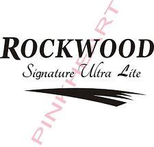 Rockwood  signature ultra lite swoosh decal Rv camper decals graphics sticker
