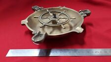 Ashtray Antique Brass Wheel Boat Marine Ref41729