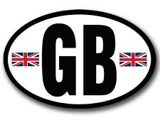 3x5 inch OVAL GB Sticker  -car vinyl decal england uk great britain british euro