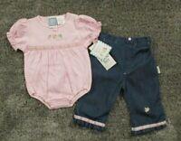 Beyond Basics Kids Baby Toddler Girls 2 Piece Outfit 12 18 24 Mo Bodysuit Jeans