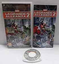 Console Game Gioco UMD Sony Playstation PSP ITALIANO MARVEL LA GRANDE ALLEANZA 2