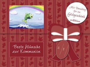 Beste Wünsche zur Kommunion - Buch + Umschlag für Geldgeschenk NEU
