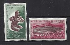 DAHOMEY (REP) - C87 - C88 - USED -1968 - MEXICO OLYMPICS