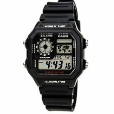 Casio AE1200WH-1A Unisex Grey Digital Dial World Time Watch