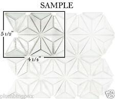 *SAMPLE Carrara Marble & Glass Diamond Kitchen Bath Wall Mosaic Backsplash Tile