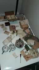 Lot of Antique/Vtg. Fishing Gear:80+ Pieces Hand Tied Flies, Fly Reels, Lures+