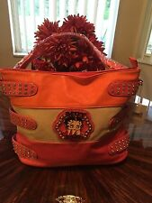 Betty Boop Multi color PU Leather hobo Handbag Large Betty Boop Travel Large bag