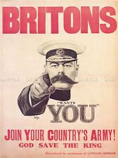 WAR RECRUITMENT ARMY MILITARY KITCHENER PROPAGANDA UK VINTAGE POSTER 1083PYLV