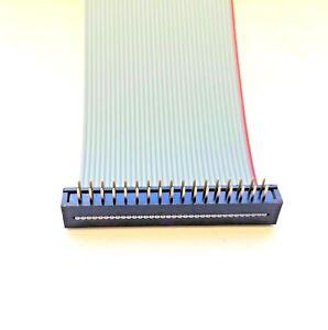 2 Row Transition Plug Male PCB Mount IDC Ribbon Cable 6 - 50way 10 ~ 50cm Custom