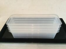 TERRINE MOULDS x 4 New HARD PLASTIC Oven safe at 85oC in a Combi - 840g reusable