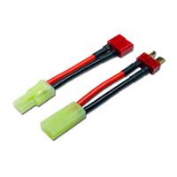 1x Paar Adapterkabel Mini TAMIYA auf T-Plug T-Dean Deans T-Stecker Buchse Kabel