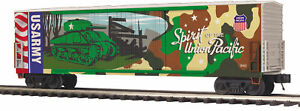 MTH Trains 20-93757 Union Pacific US Army 50' Double Door Plugged Boxcar O Scale