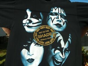 Kiss Vintage Hot In The Shade T Shirt Size XL Extra Large