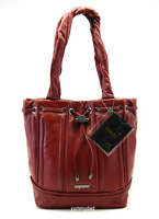 MIMCO LOWKEY LEATHER BUCKET BAG IN POMEGRANITE BNWT RRP$399