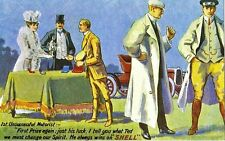 HE ALWAYS WINS ON SHELL ADVERTISING POSTCARD MINT UNUSED AS SCAN