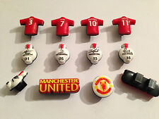8x Manchester United Shoe Lace Charms Football Party bag fillers not Croc tags