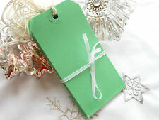 20 Large Green Blank Wedding Favour Tags Strung Green Luggage Labels