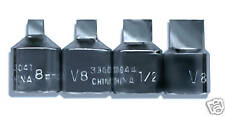 V8 Tools 4 Piece Square Drain Plug Socket Set #3304