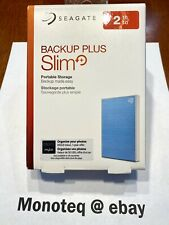 Brand New Seagate STHN2000402 2TB Backup Plus Slim Portable Hard Drive Light Blu
