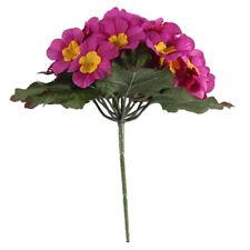 Artificial Primula Bush 25 Flowers 21cm/8 Inches Pink