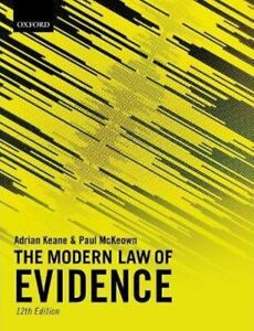 The Modern Law of Evidence - 12th Edition