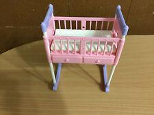 Barbie Doll Happy Family Pregnant Midge Baby Girl Nikki Rocking Bed Crib