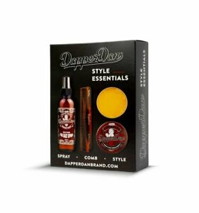 Dapper Dan Deluxe Pomade Style Essentials Hair Styling Gift Set for Men