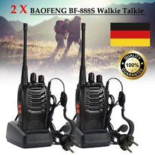 Walkie Talkie Set 2 x Baofeng BF-888S 16 Kanäle  Handfunkgeräte 50Ω mit Headset