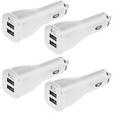 4x OEM Dual USB Car Charger Adaptive Fast Rapid For Samsung Galaxy Note 8 S8 S8+