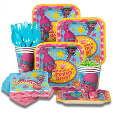 Trolls Birthday Party Supplies For 8 Guest Plates Cups Forks Napkins Tableware