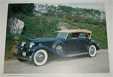 1932 Packard Twin Six Dietrich  Dual Cowl Phaeton car print (blue, white top)