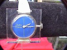 endura swiss made windup retro look clear square wrist watch needs band