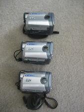Three (3) Jvc MiniDv Gr-Da30U Video Camcorders W/Functional Issues