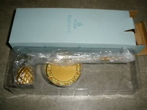 NEW Partylite Island Escape Pineapple Golden Candle Snuffer & Tray P8419