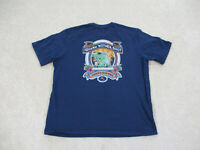 Tommy Bahama Shirt Adult Large Blue Iguana Nother Shot Relax Marlin Mens *